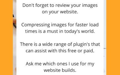 Top Tip – Compressing your images